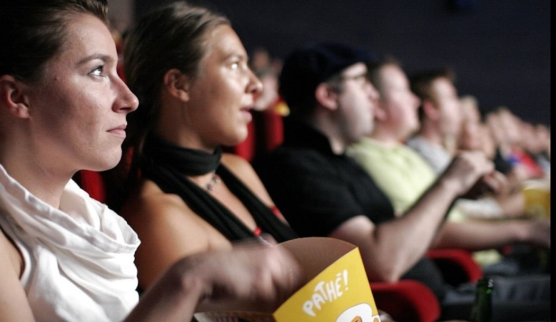 Cinema audience watching a film