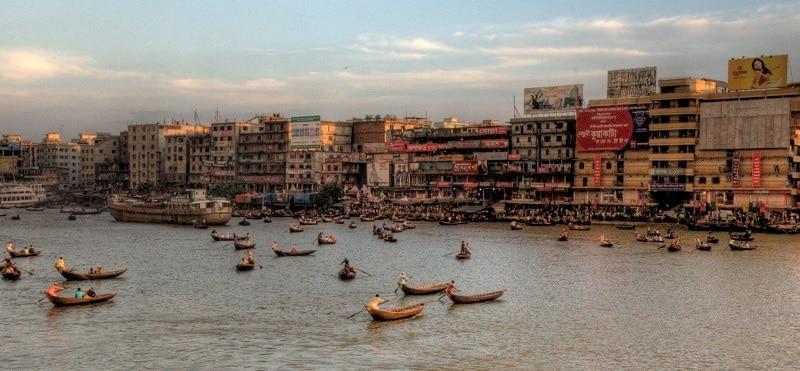 Evening view of Dhaka