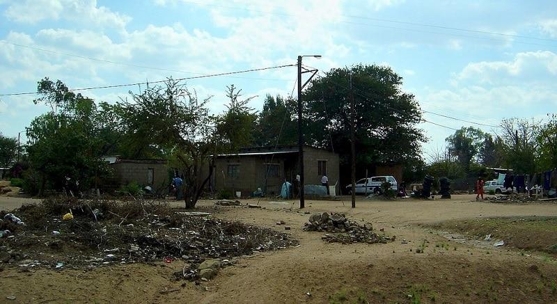 Poor neighborhood in Gabarone