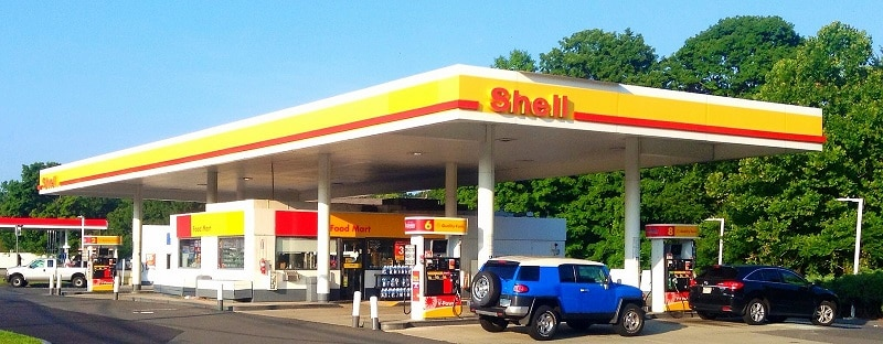 A Shell gas station in the USA