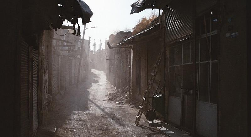 A polluted street in Kermanshah