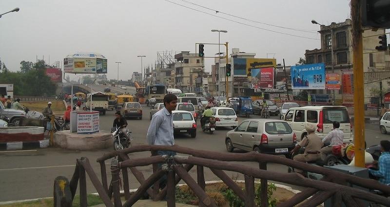 Busy street in Ludhiana