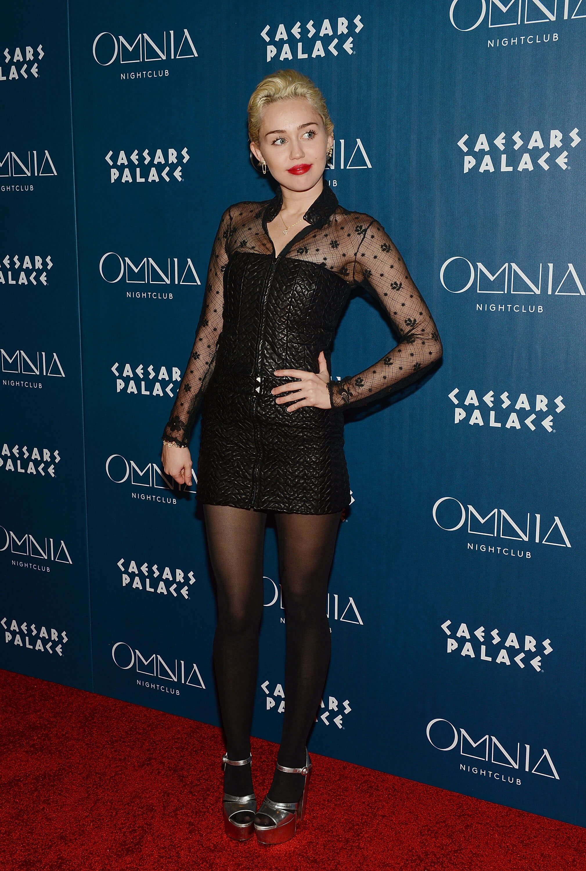 LAS VEGAS, NV - MARCH 21:  Miley Cyrus arrives at Heart of OMNIA in Caesars Palace on March 21, 2015 in Las Vegas, Nevada.  (Photo by Denise Truscello/WireImage)