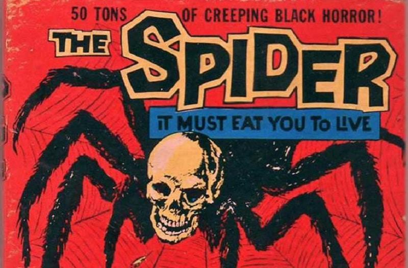 Movie poster adviertising The 50-ton Spider