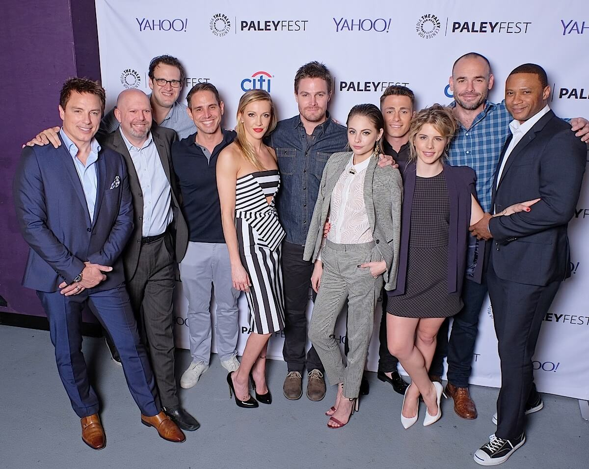 Cast and Creatives of Arrow attend PALEYFEST LA 2015 honoring Arrow and The Flash, presented by The Paley Center for Media, at the Dolby Theatre on March 14, 2015 in Hollywood, California. © Michael Bulbenko for Paley Center for Media