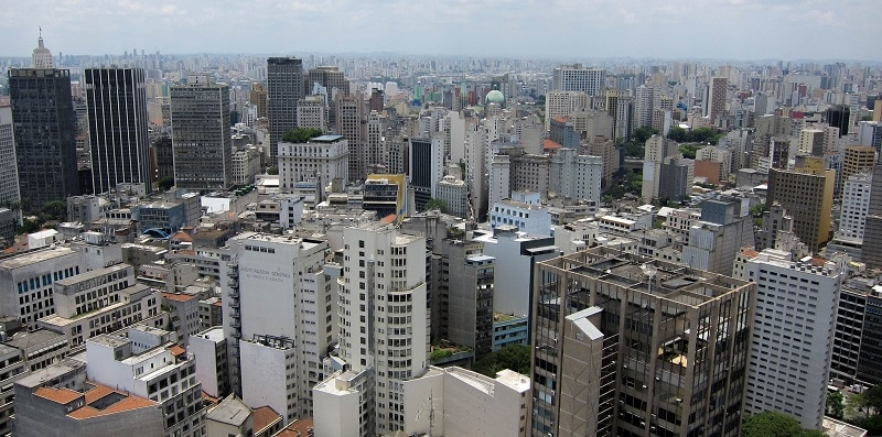High-rise buildings in Sao Paolo