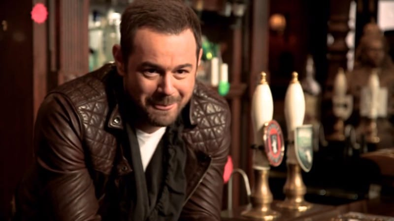 Danny Dyer, a British Cockney favorite, in his role in the iconic TV soap EastEnders