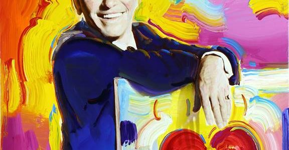 Peter Max Paints Ol' Blue Eyes: Frank Sinatra 100th Centennial Celebration