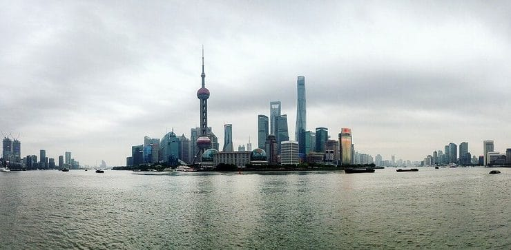 Panoramic view of Shanghai