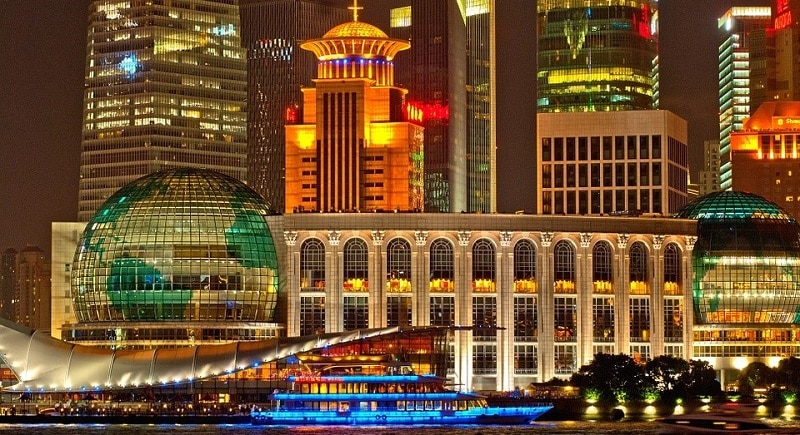 Part of Shanghai's skyline