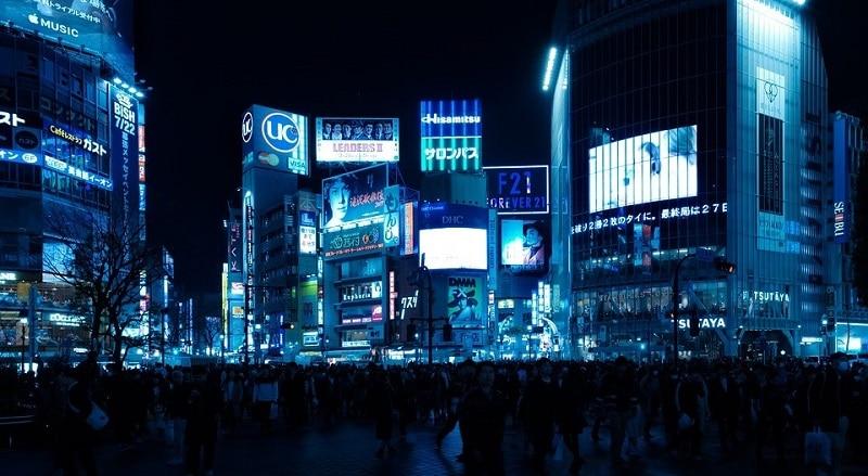 Shibuya intersection in Tokyo