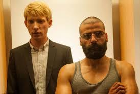 Domhnall Gleeson and Oscar Isaac in Ex Machina