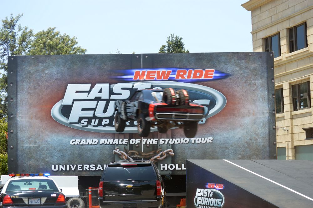 Car in air Main 1000x665 - Premiere of Fast & Furious: Supercharged at Universal Studios Hollywood