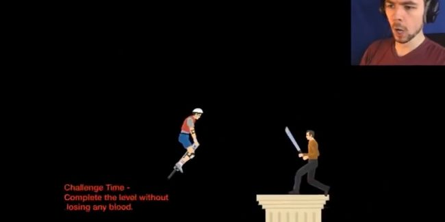 Doing anything in Happy Wheels without losing blood is pretty tricky!