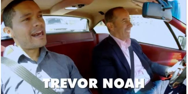 "Trevor Noah Joins Jerry Seinfeld On Crackle's ""Comedians In Cars Getting Coffee"""