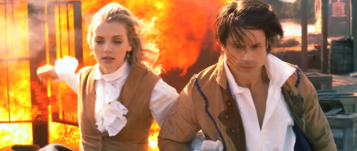 Kara Killmer and Andrew Cheney in Beyond the Mask
