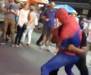 Spider-Man brawls in NYC. Hero or villain...