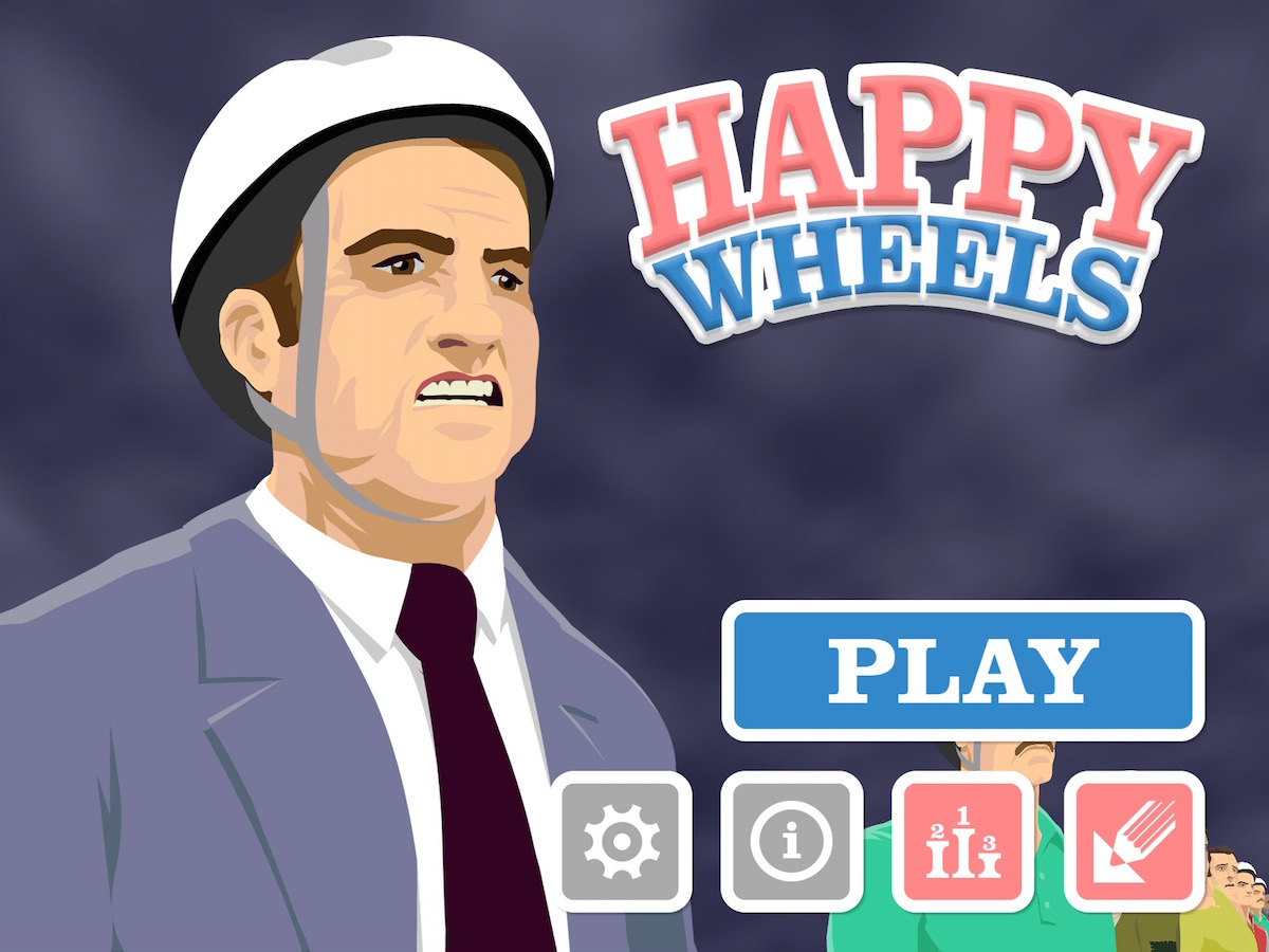 Happy Wheels iPad iOS App Review
