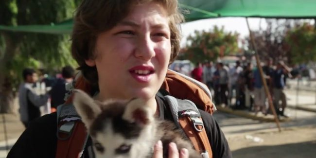 This 17-year-old Syrian Refugee Carried His Tiny Puppy 300 Miles To Greece
