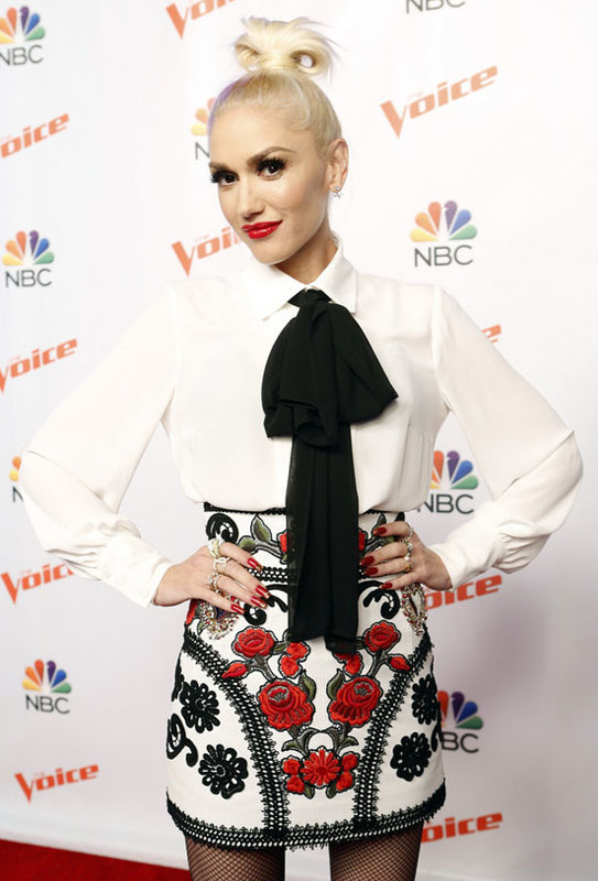 "THE VOICE -- ""Season 9 Press Junket"" -- Pictured: Gwen Stefani -- (Photo by: Trae Patton/NBC)"
