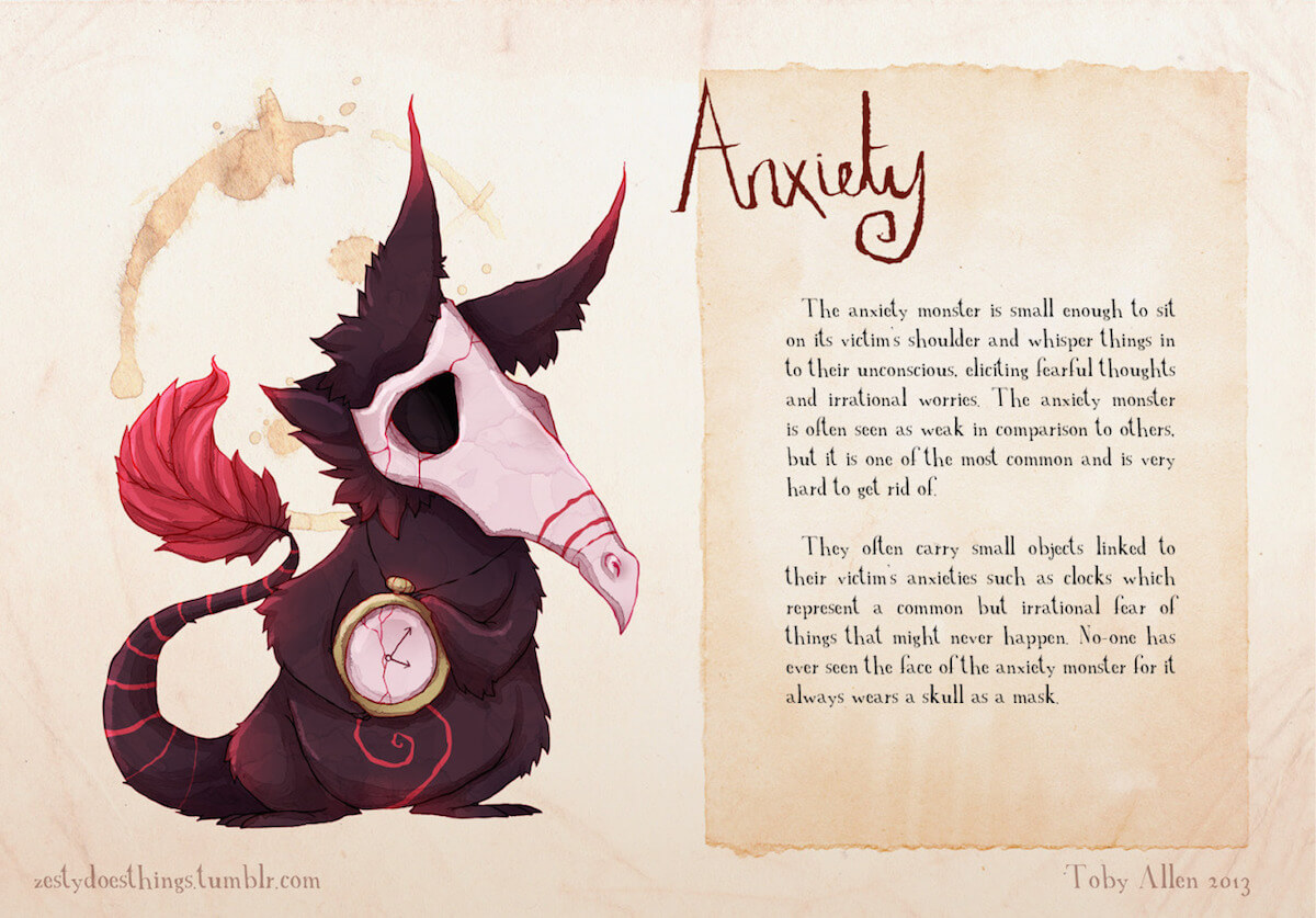 Amazing Pictures Of Mental Disorders As Monsters