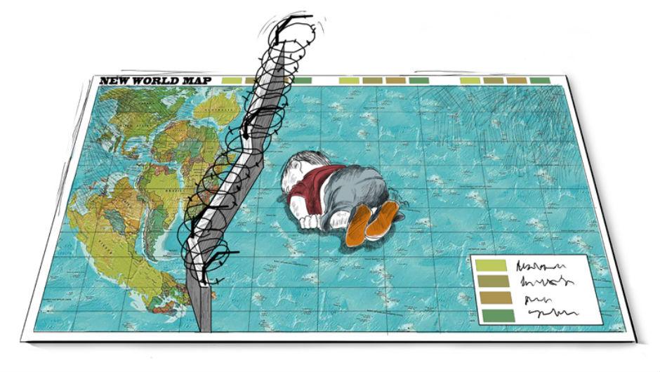 Cartoon highlights plight of refugees