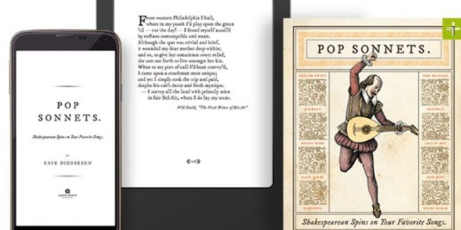 Holiday Book Picks: Pop Sonnets: Shakespearean Spins on Your Favorite Songs