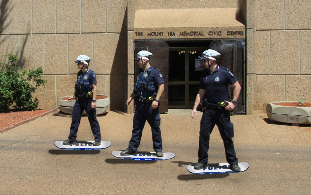 Australian Police Deploy 'Hoverboard Unit' On Back To The Future Day