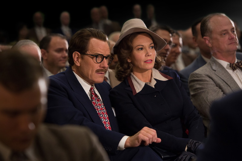 Bryan Cranston and Diane Lane as Dalton and Cleo Trumbo