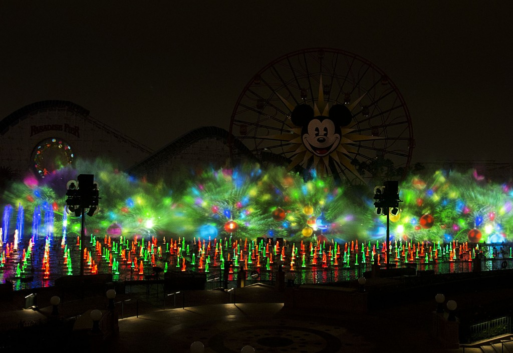 "'WORLD OF COLOR – WINTER DREAMS' (ANAHEIM, Calif.) – ""World of Color - Winter Dreams,"" the holiday version of the ""World of Color"" nighttime spectacular at Disney California Adventure Park, adds even more merriment to Holidays at the Disneyland Resort, which runs from Nov. 13, 2015 through Jan. 6, 2016. Hosted by Olaf the snowman from Disney's ""Frozen,"" the ""World of Color - Winter Dreams"" show features classic winter scenes from beloved Disney and Disney•Pixar films. Also during the holiday season at Disney California Adventure, guests will enjoy ""Disney ¡Viva Navidad!,"" a celebration of Latino culture and seasonal traditions. This year, the Diamond Celebration adds even more sparkle to the festive entertainment with ""Paint the Night"" parade and the ""Disneyland Forever"" fireworks spectacular. (Paul Hiffmeyer/Disneyland Resort)"