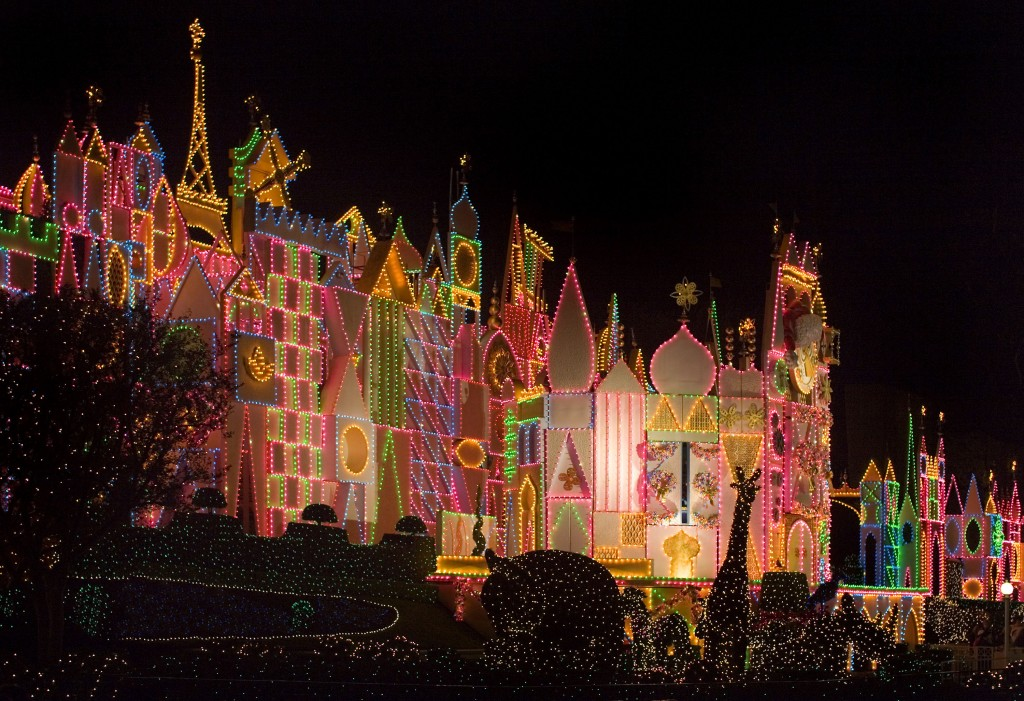 """IT'S A SMALL WORLD"" HOLIDAY (ANAHEIM, Calif.) – Guests will discover how the spirit of the season unites cultures across the globe as they sail through ""it's a small world"" Holiday, just one of the many festive features at the Disneyland park during the holidays. The Holidays are a magical time to create unforgettable memories with loved ones at the Disneyland Resort. This merry season runs Nov. 13 through Jan. 6, 2016, as Disneyland park becomes a dazzling winter wonderland with festive décor, holiday-themed treats and attractions transformed for the season – ""it's a small world"" Holiday and Haunted Mansion Holiday. This year, the Diamond Celebration adds even more sparkle to the exciting entertainment, which includes ""A Christmas Fantasy"" parade, ""Disney ¡Viva Navidad!,"" ""Paint the Night"" nighttime parade and the ""Disneyland Forever"" fireworks spectacular. (Paul Hiffmeyer/Disneyland Resort)"