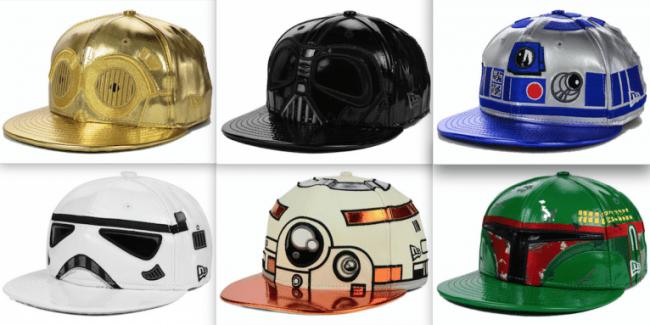 Star Wars caps
