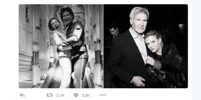 Carrie Fisher Raises Big Middle Finger Lightsaber To Trolls, It's Awesome Of Course