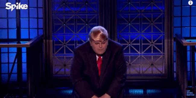 Josh Gad as Trump, touching himself  VIDEO