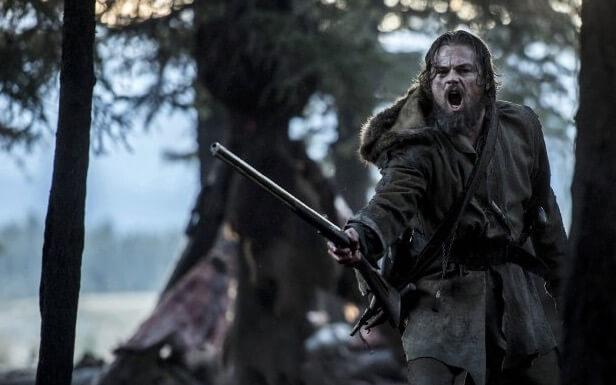 Leonardo DiCaprio stars in The Revenant.