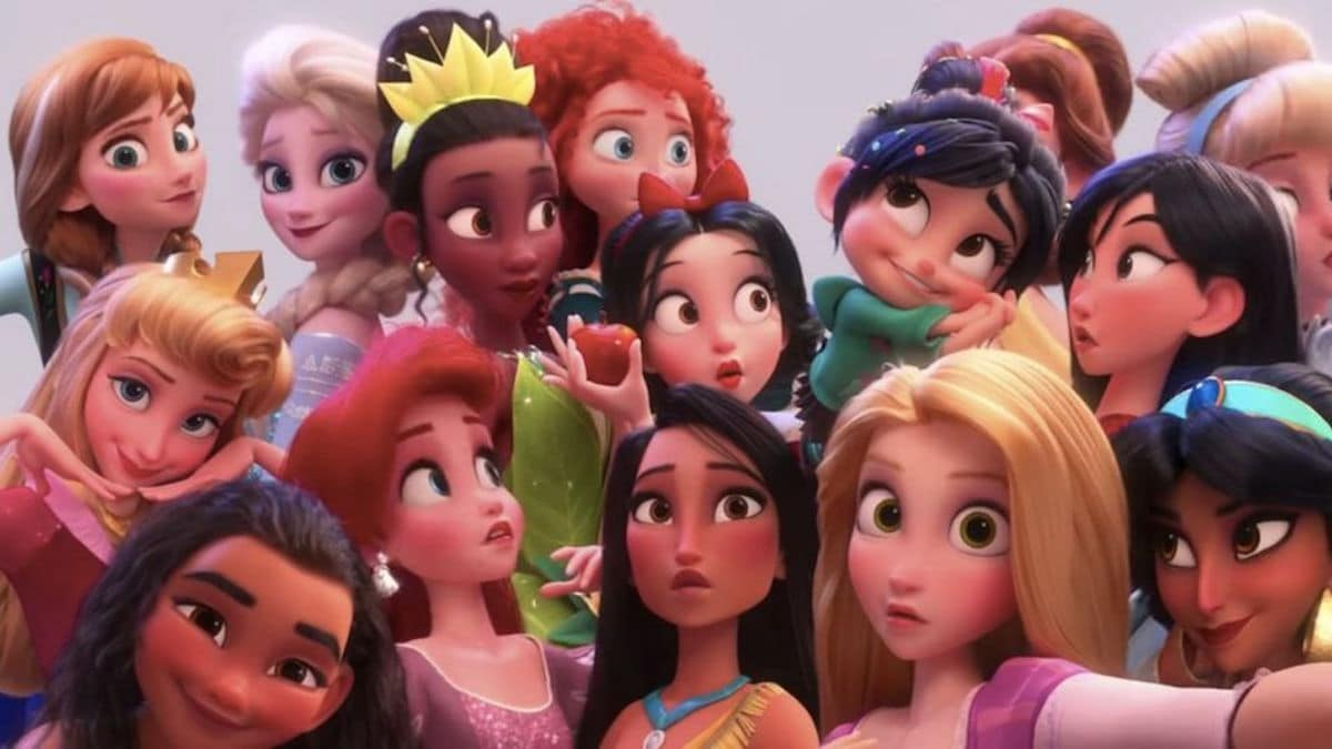 disney princesses all together