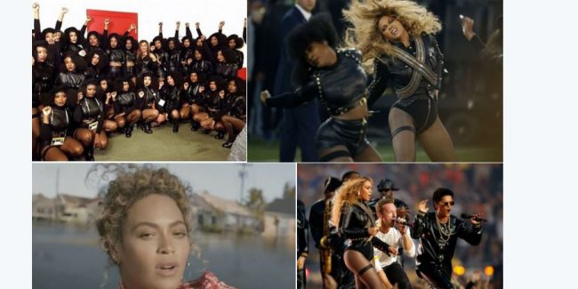 Watch as Beyoncé, Bruno Mars steal Coldplay's Super Bowl thunder