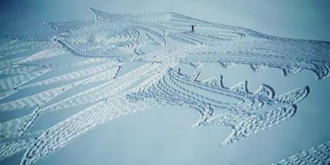 Snow artist creates biggest Game of Thrones tribute in history