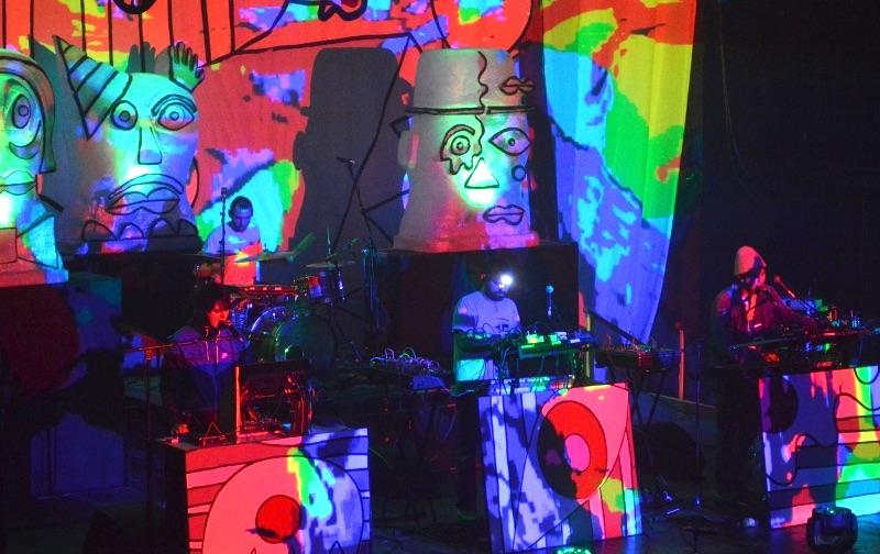 Animal Collective and their giant psychadelics. All photoscopyright Kieran MacIntyre