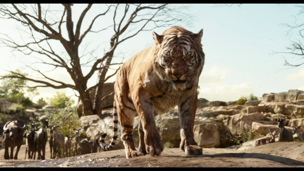Shere Khan, voiced by Idris Elba, in the new clip from Disney's The Jungle Book