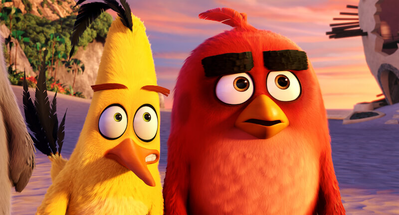 Chuck, voiced by Josh Gad, and Jason Sudeikis's Red in The Angry Birds Movie