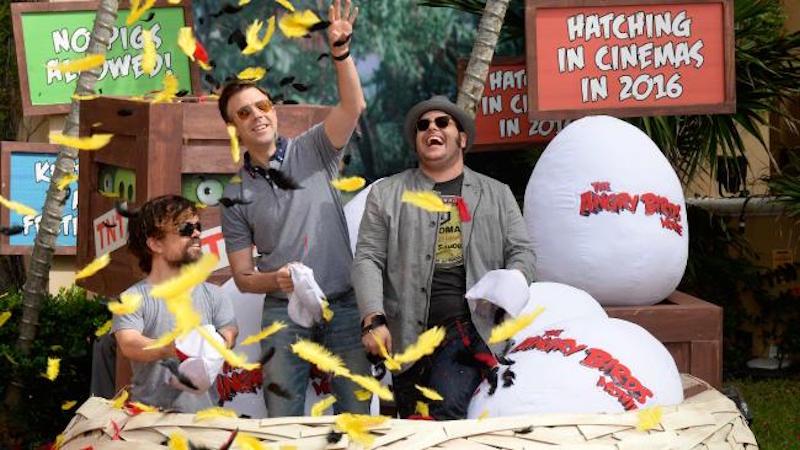 Peter Dinklage, Jason Sudeikis and Josh Gad promote the movie