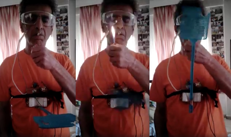 Greek inventor's amazing fly swat anti-smoking device