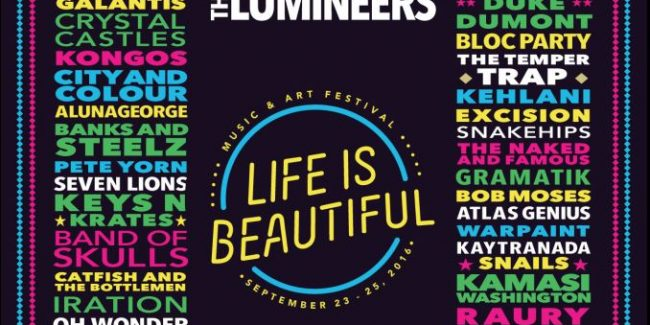 Life is Beautiful lineup for 2016 revealed