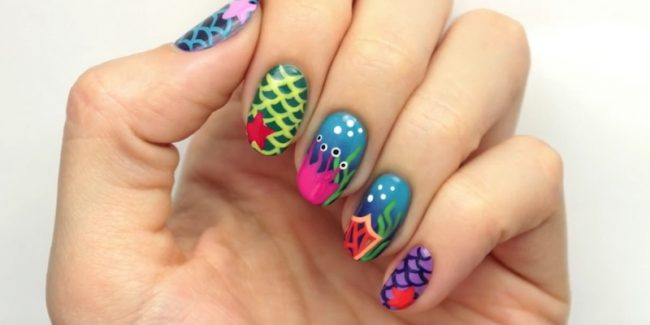 Gorgeous ocean-inspired nails are ideal for summer