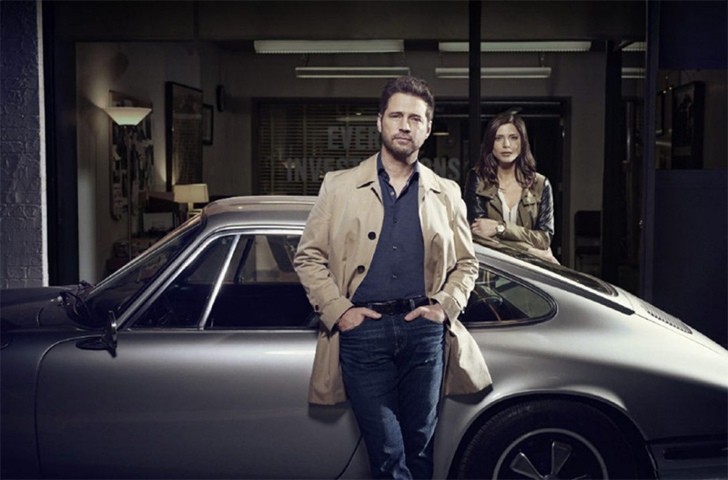 Jason Priestley and Cindy Sampson star in Private Eyes
