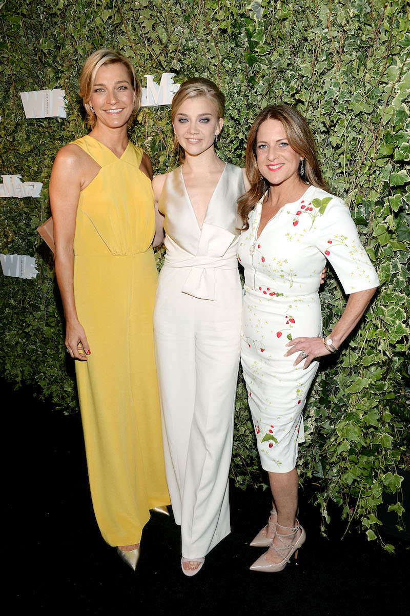 LOS ANGELES, CA - JUNE 14: Host Nicola Maramotti, actress Natalie Dormer and Cathy Schulman, wearing Max Mara, attend Max Mara Celebrates Natalie Dormer - The 2016 Women In Film Max Mara Face Of The Future at Chateau Marmont on June 14, 2016 in Los Angeles, California. (Photo by Stefanie Keenan/Getty Images for Max Mara)