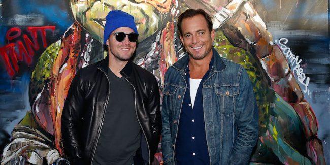 Will Arnett and Stephen Amell at Teenage Mutant Ninja Turtle 2 premiere in Sydney