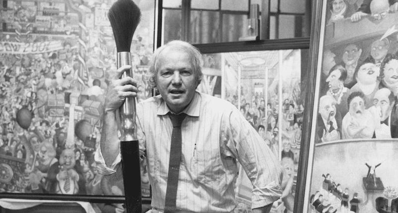 Cenedella at his Laight Street Studio in Manhattan in 1988