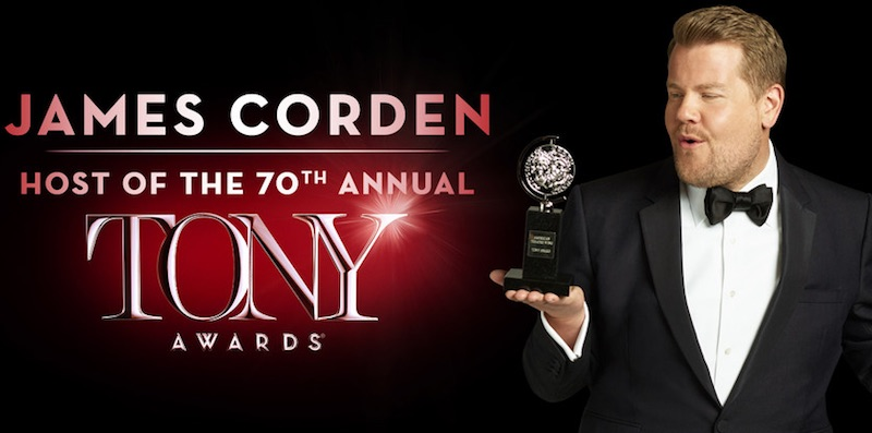 James Corden will host the Tony Awards this Sunday from
